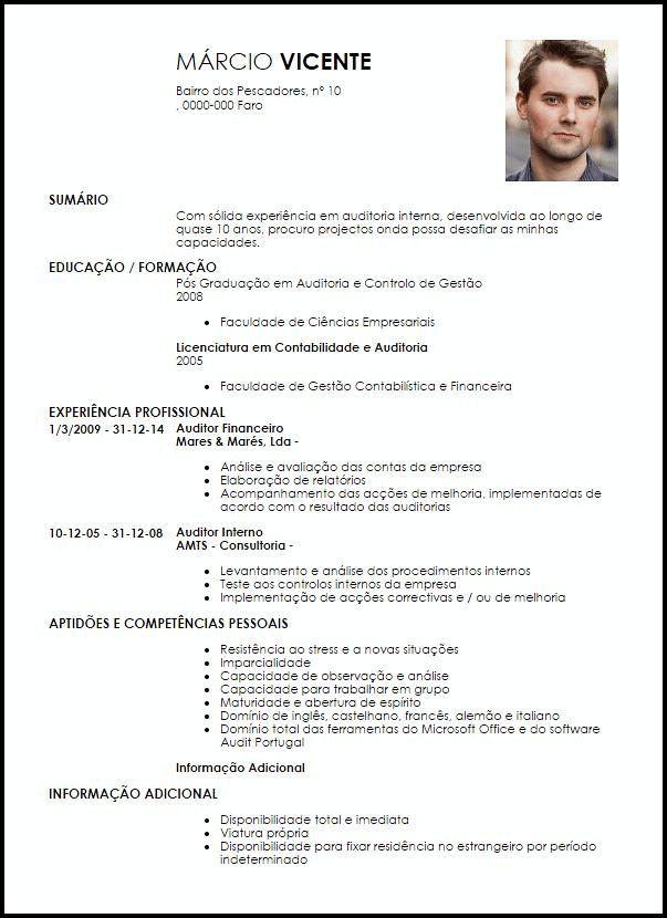 Modelo Curriculum Vitae Auditor  LiveCareer