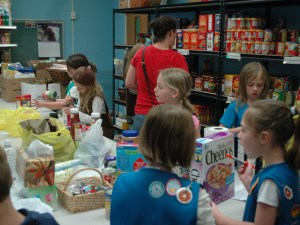 Food Pantry Sorting and Stocking