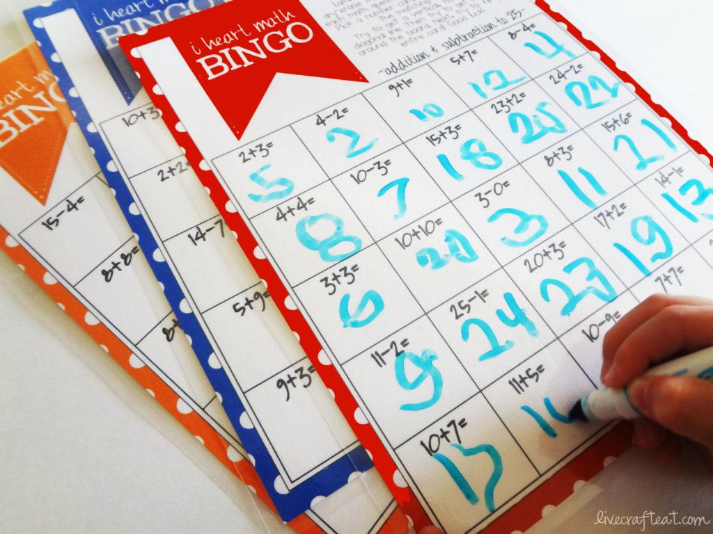 Math Bingo Printable For Kids
