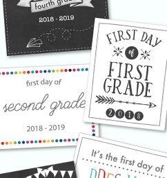 First Day Of School Printables - FREE - 21 Layouts of Pre-K - 6th   Live  Craft Eat [ 1800 x 600 Pixel ]