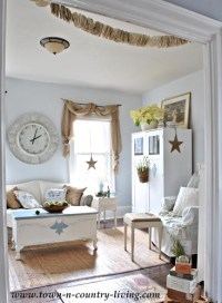 Country Decorating Style in a Farmhouse Family Room - Live ...