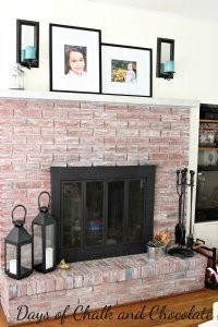 Whitewashed Brick Fireplace - Live Creatively Inspired