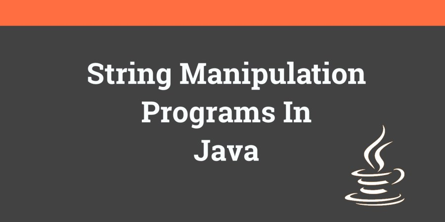java string manipulation programs