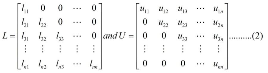 LU Decomposition method 01