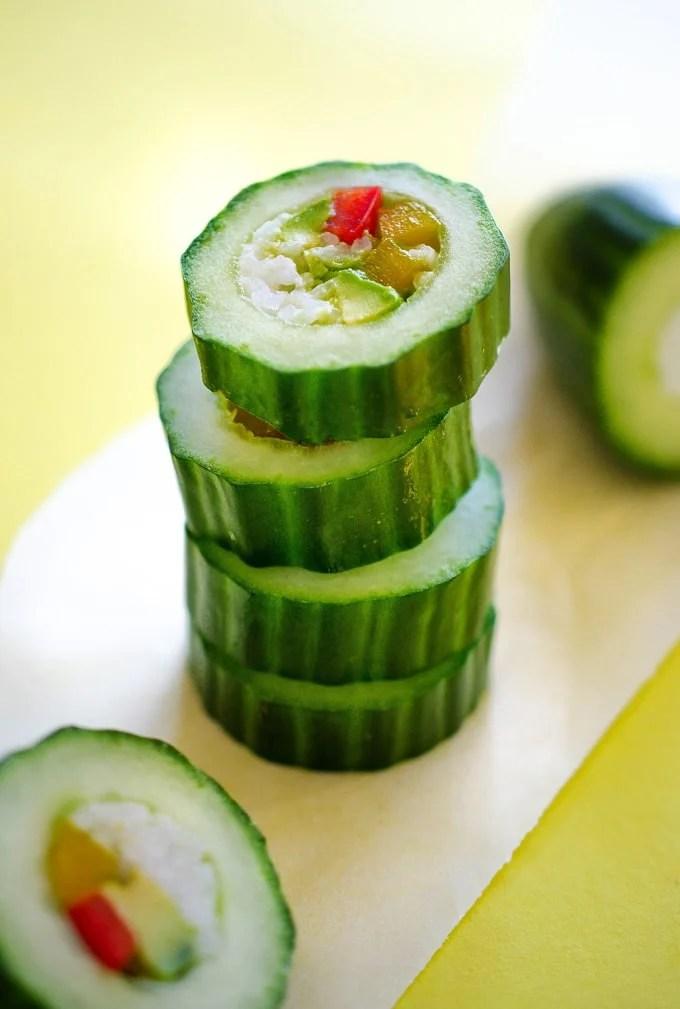 Cucumber Sushi Rolls recipe photo