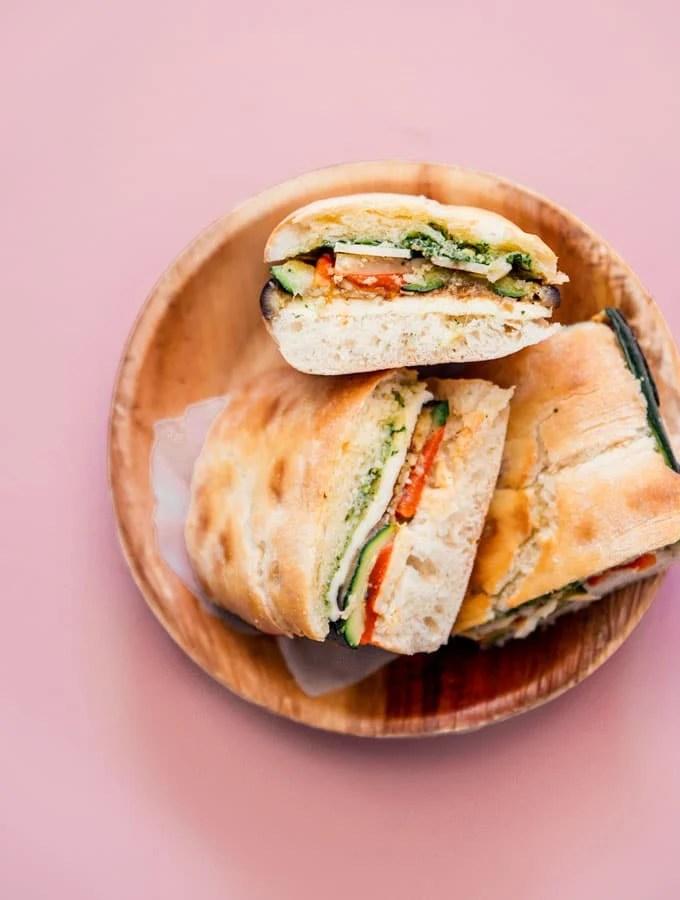 8. Pressed Eggplant Sandwiches