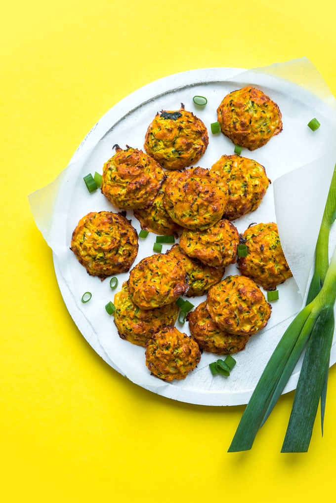 These Zucchini Cheddar Bites are packed with hidden vegetables and are so addictive!