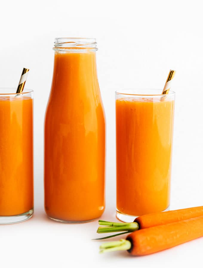 Blender Carrot Juice with Tropical Fruit and Ginger | Live Eat Learn