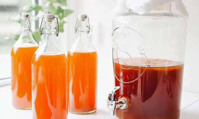 How to make homemade kombucha recipe flavored with kombucha flip top bottle