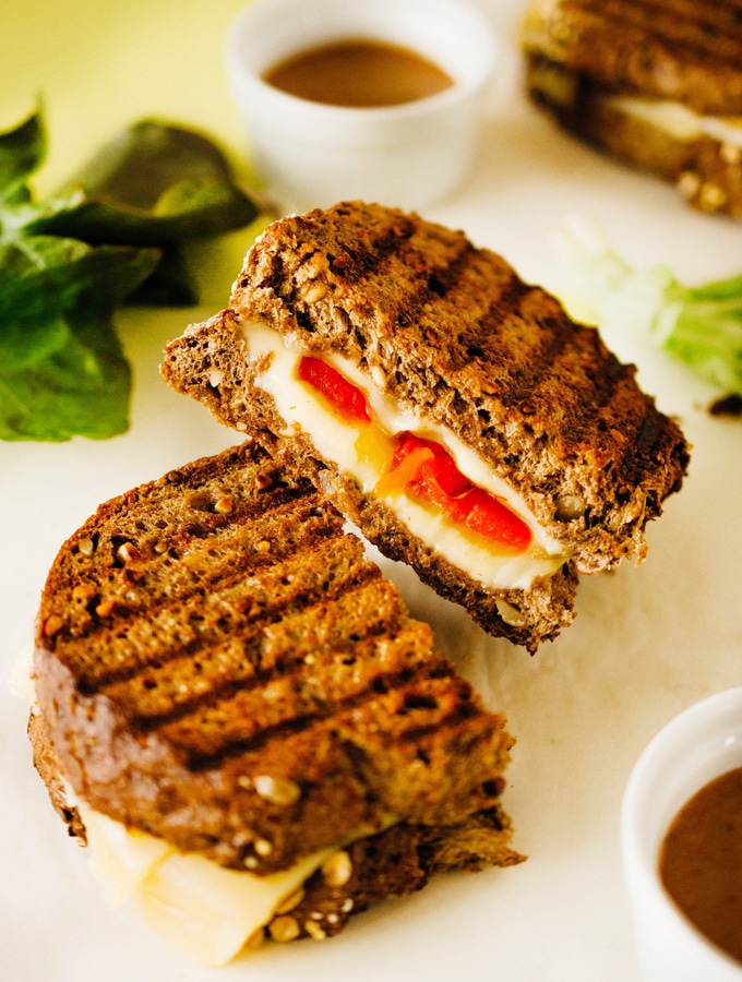 Roasted Bell Pepper Gouda Grilled Cheese
