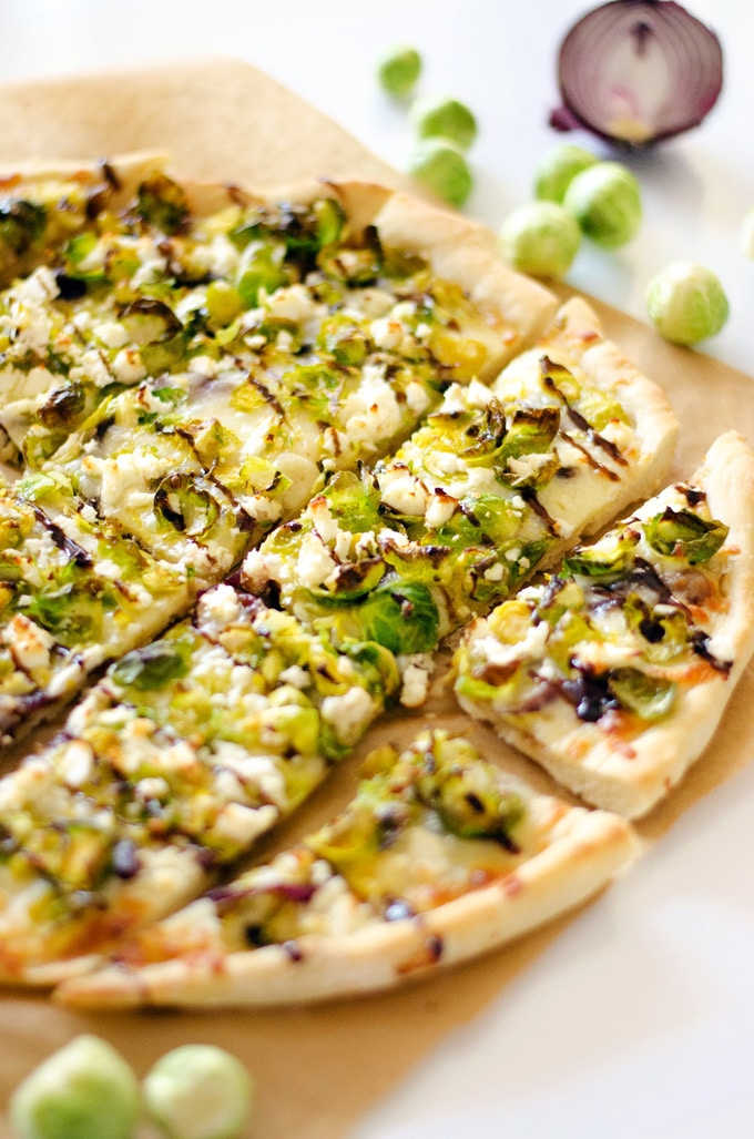 Beer Caramelized Onion and Brussels Sprout PizzaBeer Caramelized Onion and Brussels Sprout Pizza
