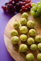 Goodness Gracious Grape Balls of Goat Cheese