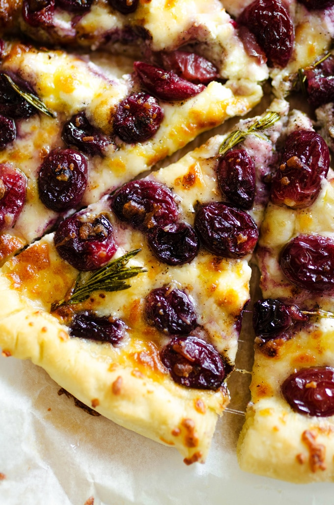 9. 3 Cheese Roasted Grape Pizza