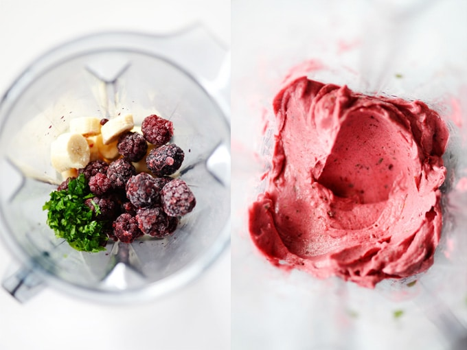 Blackberry Basil Nice Cream