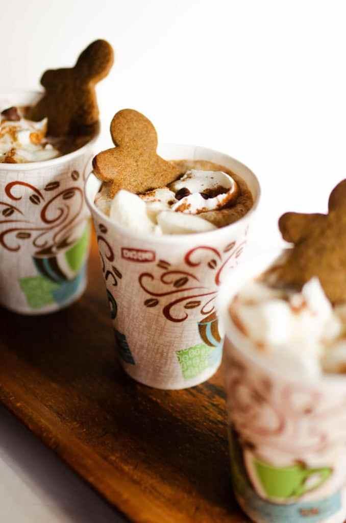 Pumpkin Gingerbread Hot Cocoa in a cup