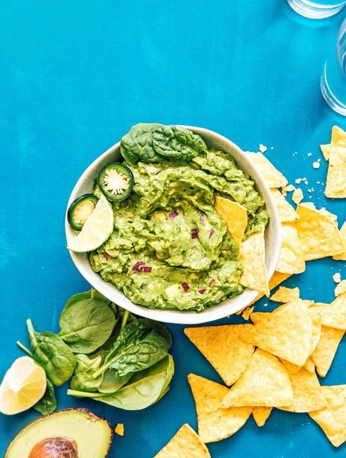 Hidden Spinach Healthy Guacamole