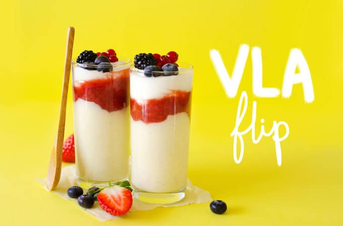This Homemade Vlavlip is a healthy take on the classic Dutch custard, vla! With creamy custard, a dash of yogurt, and a bit of jam, these are as tasty as they are easy!