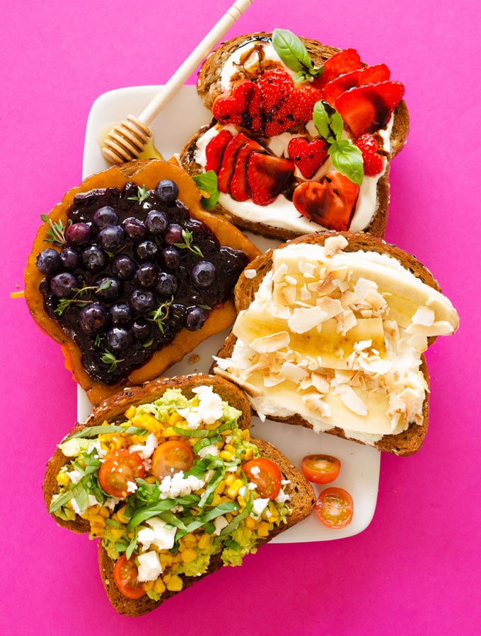 4 Easy Toast Toppings