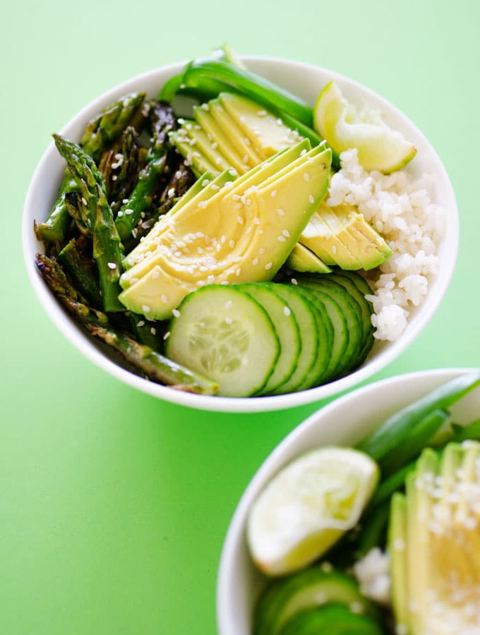 6. Green Goddess Sushi Bowl