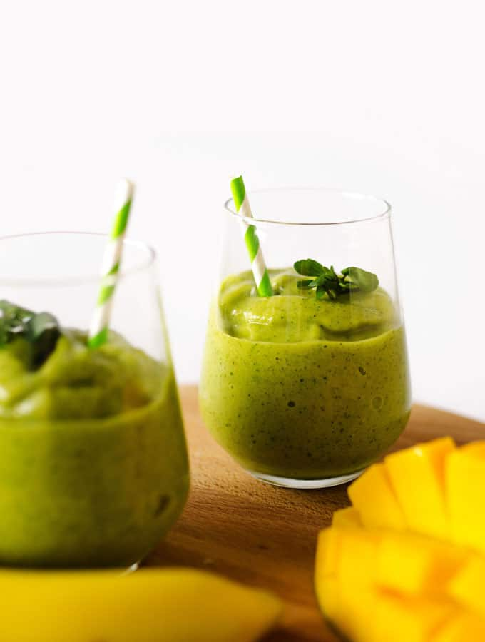 Tropical Watercress Smoothie