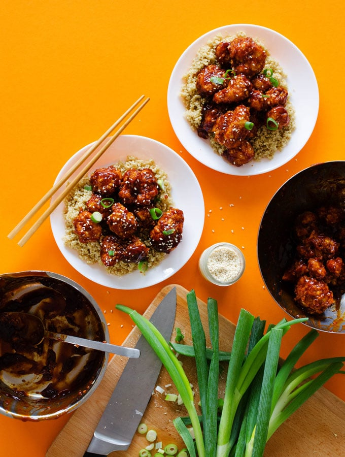 5. Baked General Tso's Cauliflower