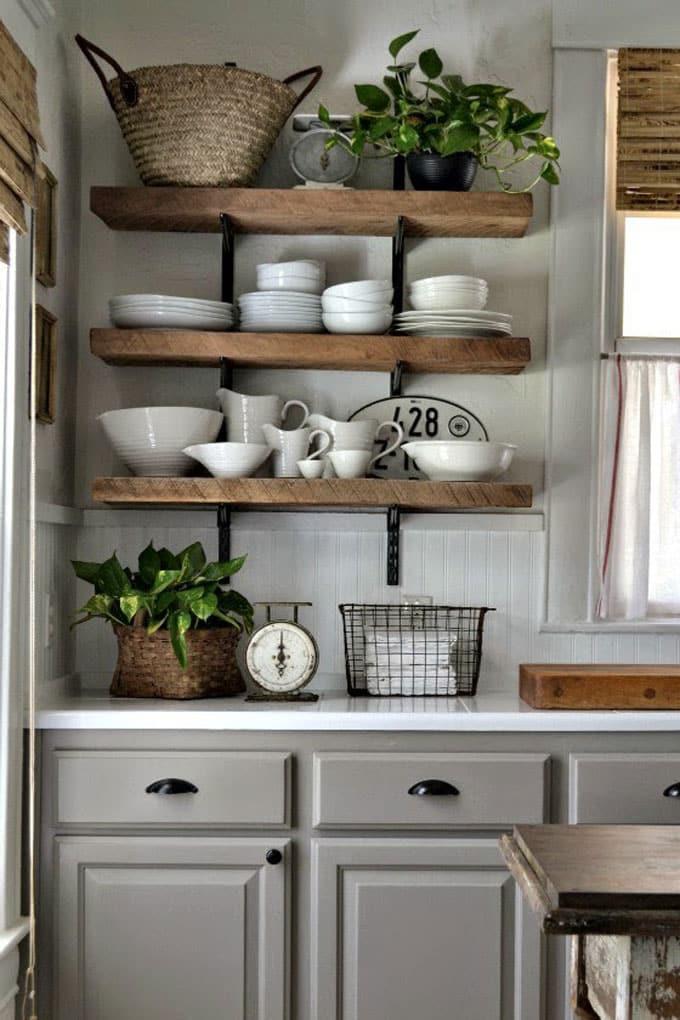 Home Renovation Part 1: Tear Down - Wood shelves