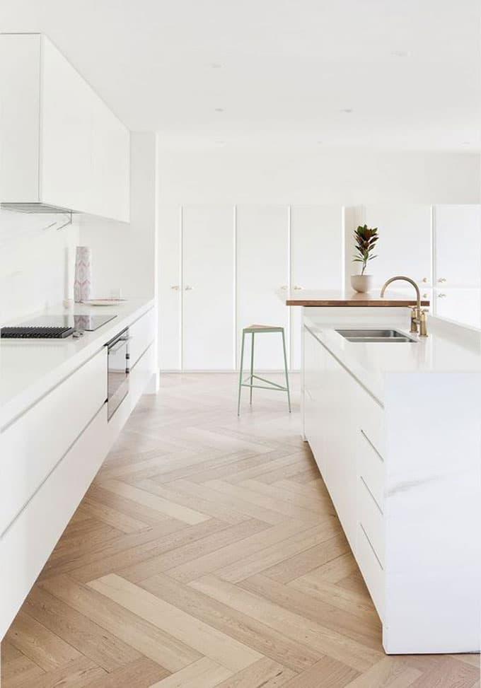 Home Renovation Part 1: Tear Down - White kitchen