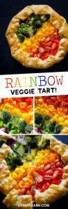 Getting your serving of veggies is easy with this Rainbow Vegetable Tart. Delicious roasted veggies atop a ricotta parmesan base, wrapped in warm and flaky puff pastry.