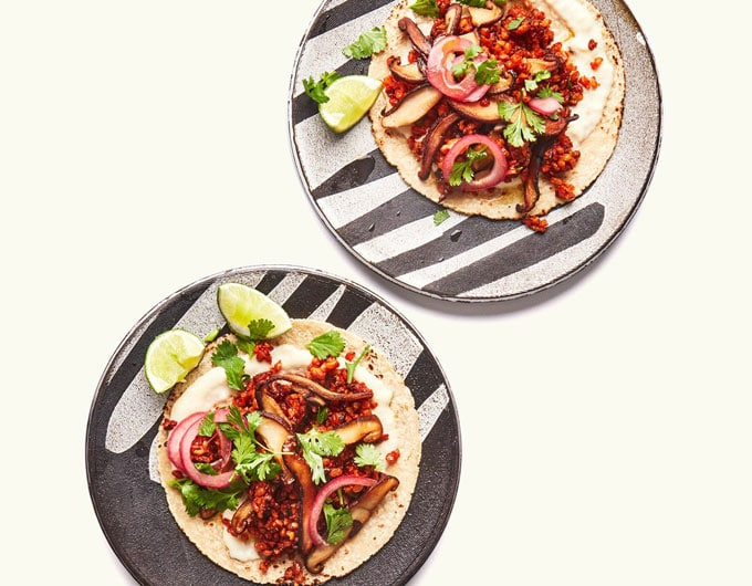 Overhead shot of vegan tacos - Our spotlight ingredient is cloves, so here are 7 tasty clove recipe ideas (both sweet and savory) to start you off.