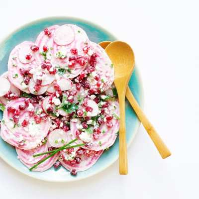 This Spring Radish Salad is super quick to throw together and is a light and flavor packed dish to brighten up your spring!