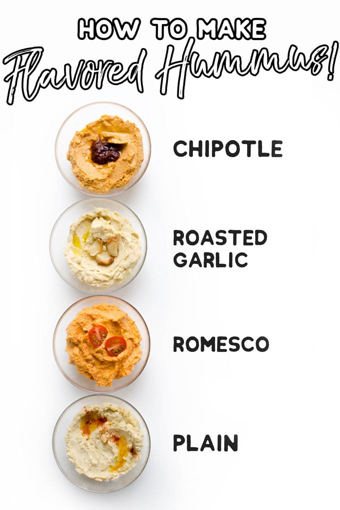 Best flavors of hummus in a bowl