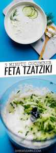 This Feta Tzatziki Sauce takes everything great about our two favorite Mediterranean flavors - feta and tzatziki - and fuses them together in a tangy, creamy, refreshing sauce that's perfect with everything!