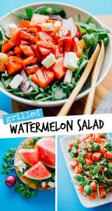 This savory Grilled Watermelon Salad is packed with feta cheese, mint, basil, and onion, and is bound to be the summer salad of your dreams.
