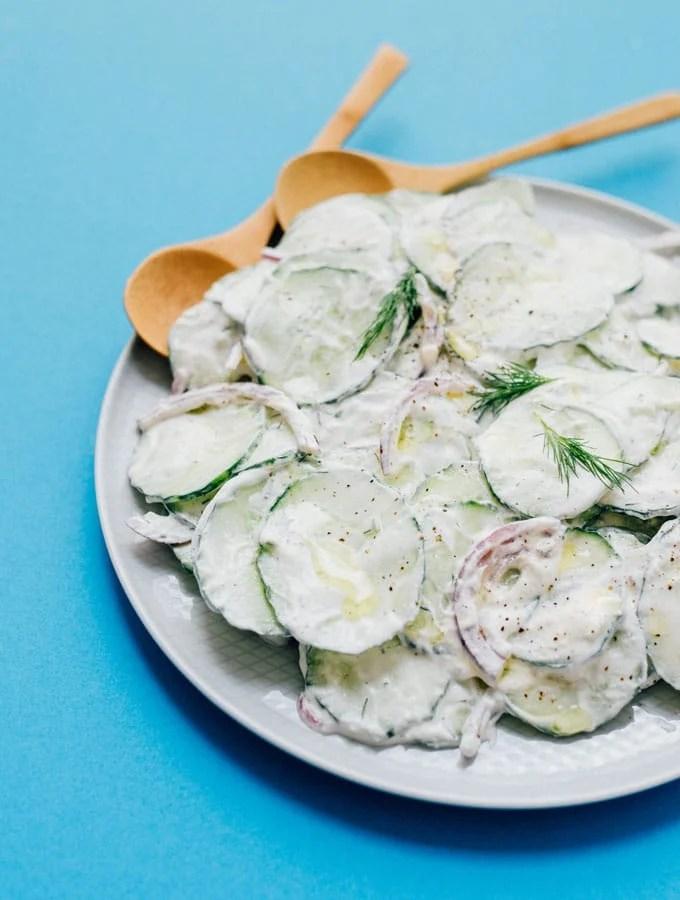 12. Tzatziki Cucumber Salad