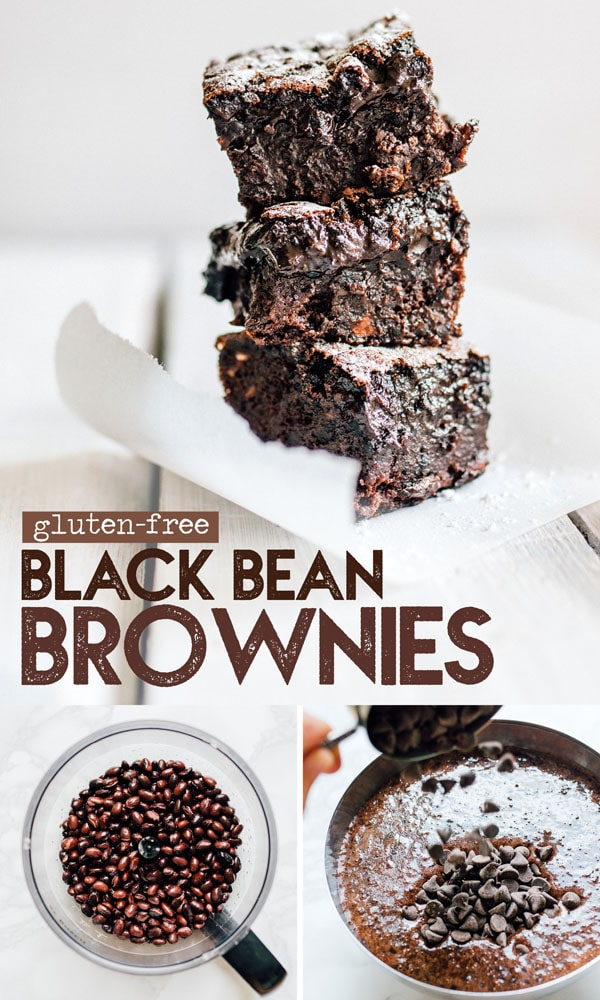 This gluten-free Black Bean Brownies recipe is a decadent, healthy dessert (and no one will ever guess they're packed with fiber-filled black beans!) It's a flavor packed dessert idea perfect for family potlucks or weeknight treats. #glutenfree #brownies #healthydesserts #glutenfreedesserts #chocolate