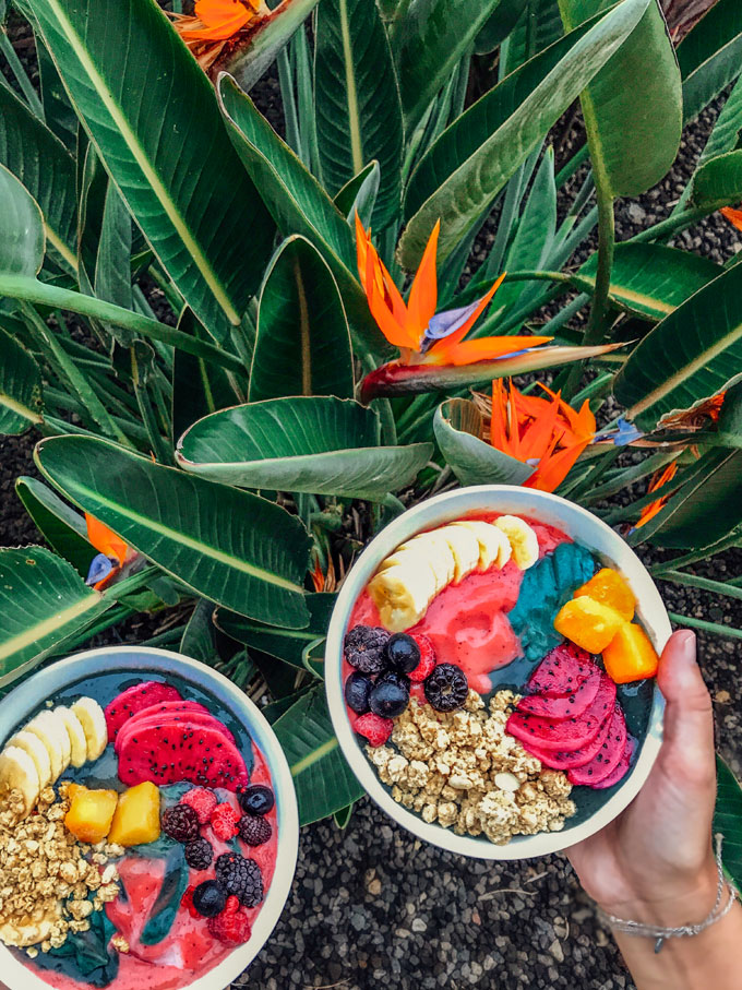 Acai bowls in Maui, Hawaii