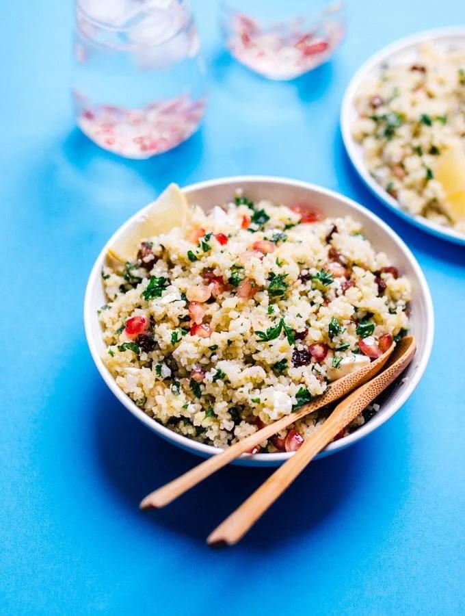 2. Bulgur Salad with Feta and Pomegranate