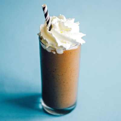 This Vegan Caramel Frappuccino has just 4 ingredients and everything you need in the morning to get moving!