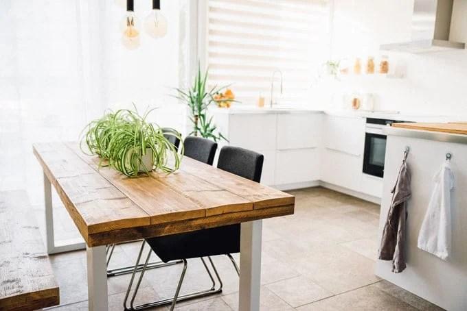 Minimalist white kitchen design