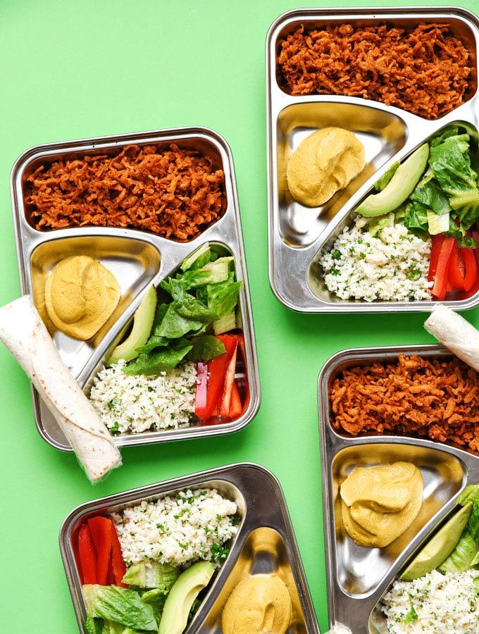 Vegan Burrito Bowl Meal Prep