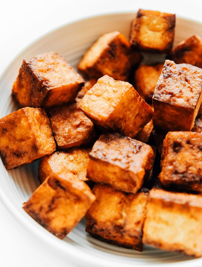 3. Ridiculously Crispy Air Fried Tofu