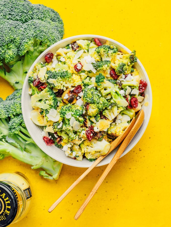 5. Grilled Broccoli Salad with Honey Mustard Dressing