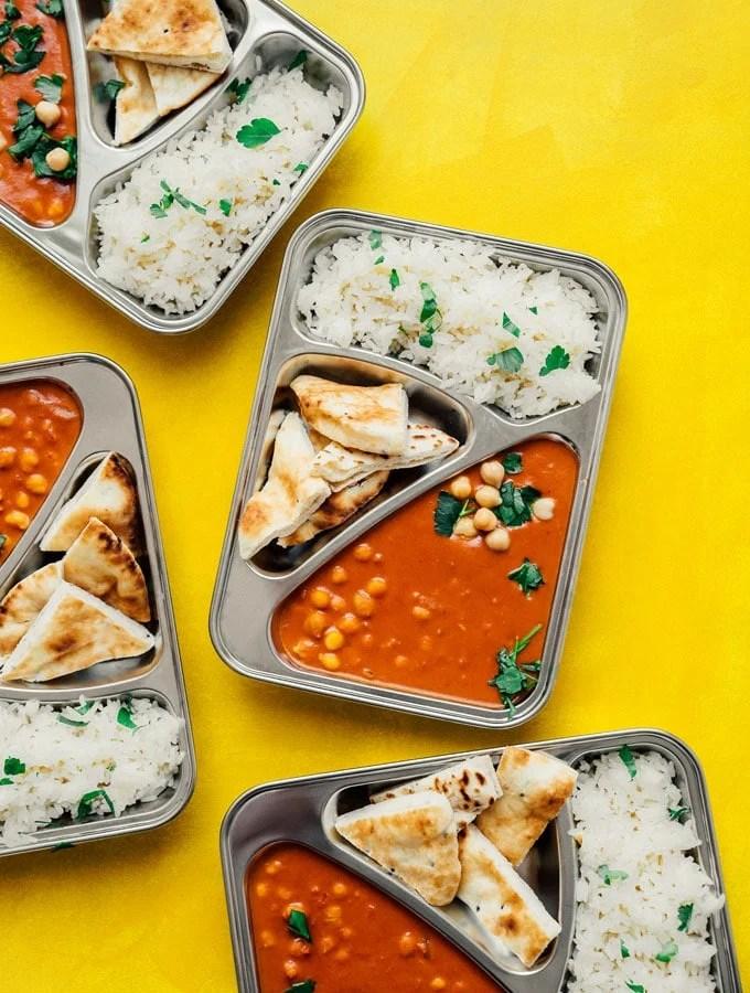Chickpea Tikka Masala Meal Prep