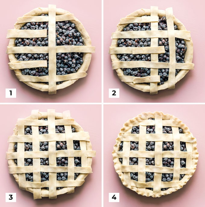 How to make a lattice pie crust for blueberry pie diagram