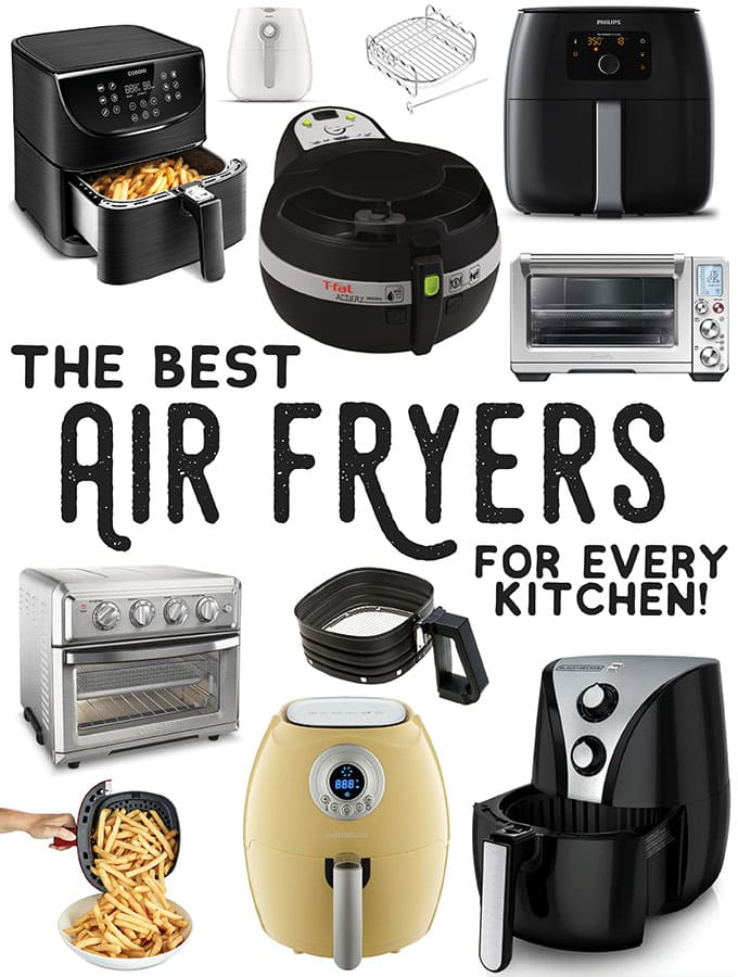 Collage of the best air fryers