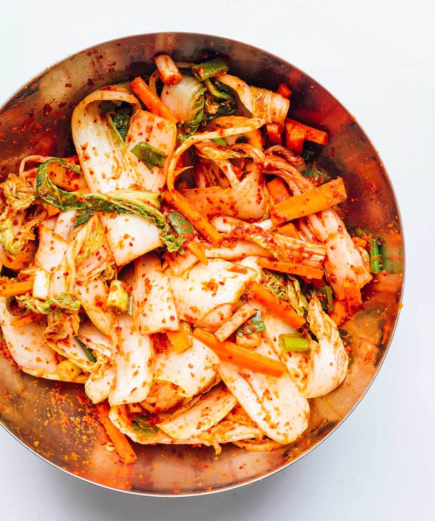 Kimchi in a bowl