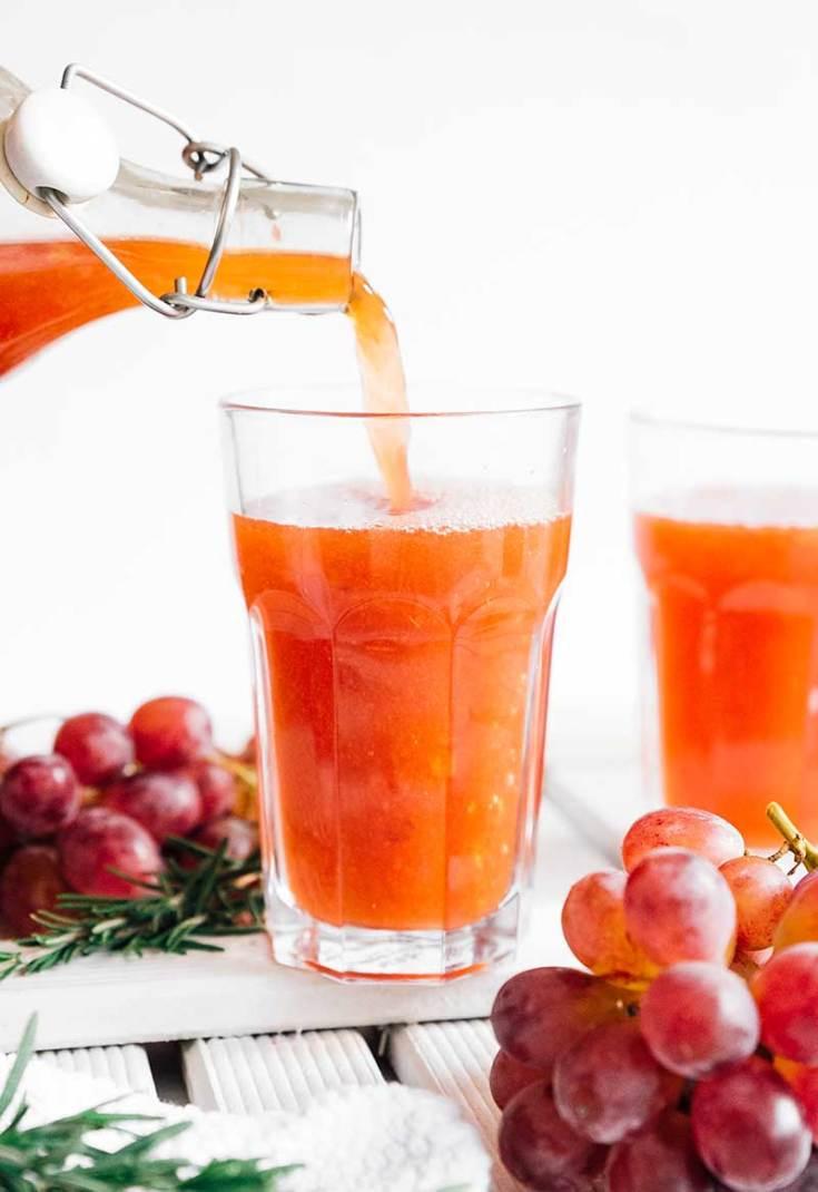 15. Rosemary Grape Kombucha