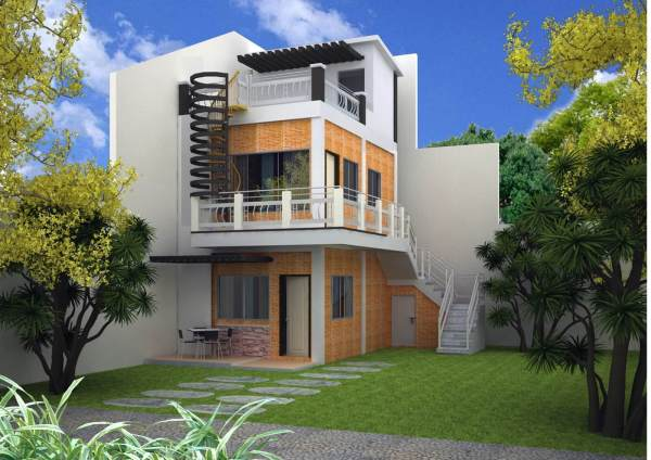 3 Storey House Design With Rooftop - Live Enhanced