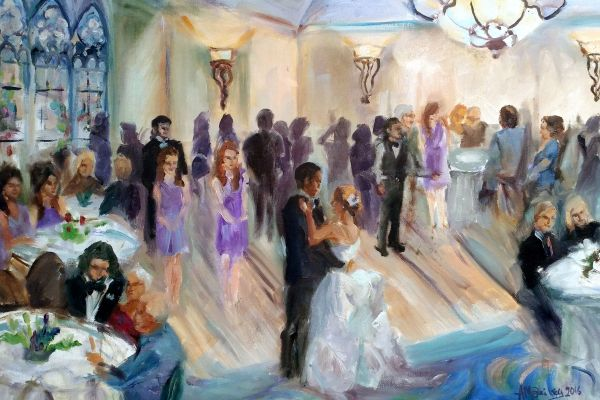 live event portrait artist wedding painting