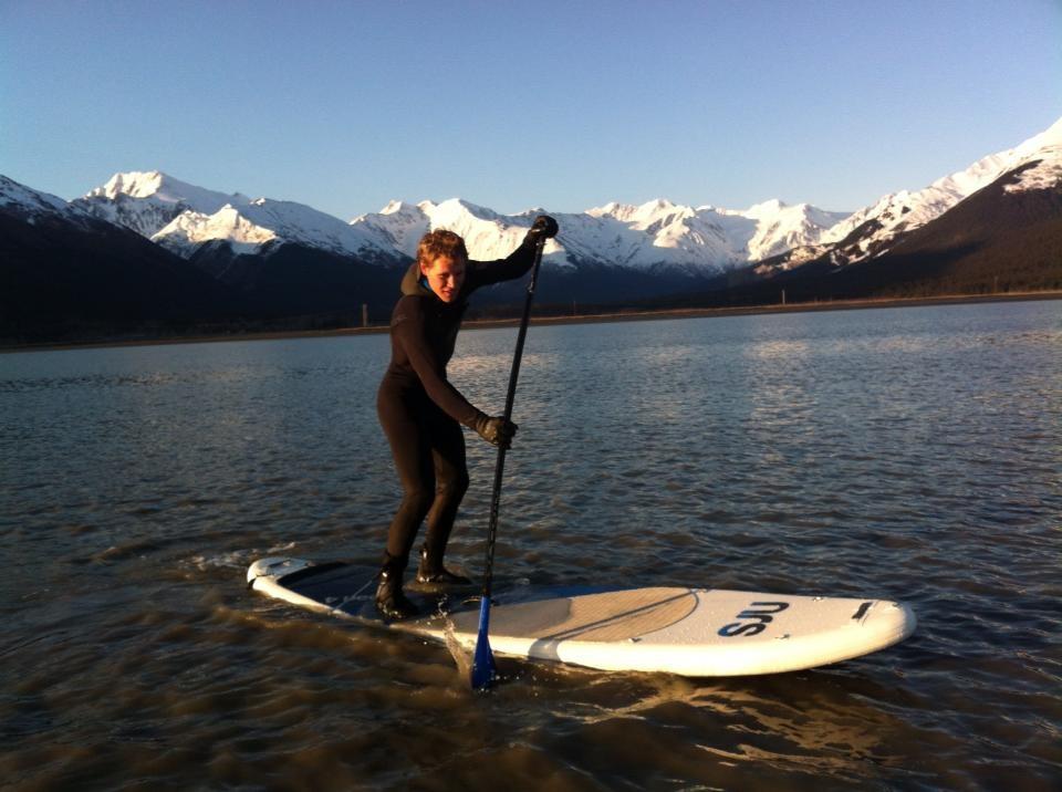 Paddleboarding Turnagain Arm, Alaska